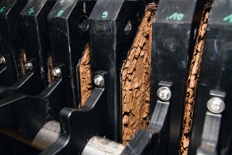 Organosolv-Lignin nach Fällung und Filtration auf der Filterpresse. © Fraunhofer CBP