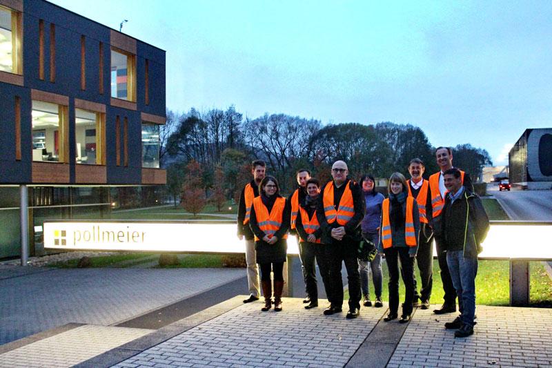 Das Konsortium des Verbundprojektes OptiPro erwartet einen Meilenstein in der Entwicklung eines hochfesten und dauerbeständigen Werkstoffs aus Buchenholz, Foto: Fraunhofer IML