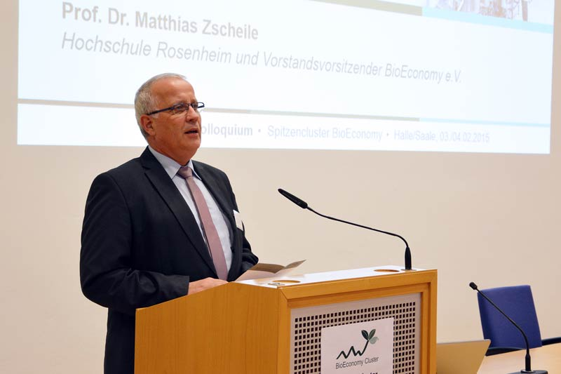 Prof. Dr. Matthias Zscheile - Vorstandsvorsitzender des BioEconomy e.V. begrüßte die Teilnehmer des Statuskolloquiums