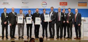 Die Preisträger des diesjährigen Energy Efficieny Awards. Den Preis für InfraLeuna nahmen entgegen Geschäftsführer Dr. Christof Günther (4.v.l.) und Holger Groß, Bereichsleiter Ingenieurtechnik (2.v.l.).