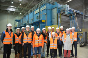 Die Arbeitsgruppe SILVA besuchte mit interessierten Clusterakteuren das Zellstoffwerk Stendal