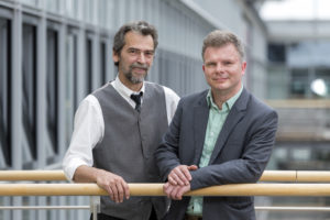 Finalist im Cluster Chemie/Kunststoffe des IQ Innovationspreis Mitteldeutschland 2016 Green Sugar GmbH v.l.: Andreas Kretschmer, Dipl.-Ing. Frank Kose (Leiter Innovation), Foto © Tom Schulze