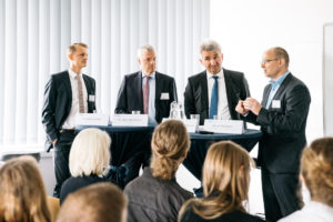 Teilnehmer des Bioökonomie Panels, Foto @ Dominik Wolf, HHL