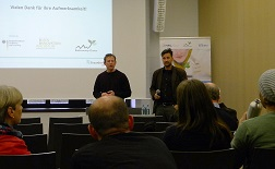 Sven Wüstenhagen, IMWS und Romann Glowacki, Innovationszentrum Bioenergie