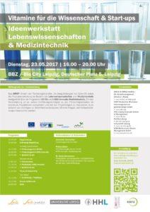 Ideenwerkstatt Lebenswissenschaften: Vitamine für die Wissenschaft & Start-ups @ BBZ, Bio City Leipzig | Leipzig | Sachsen | Deutschland