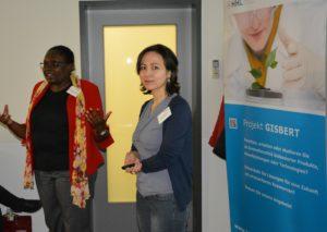 Foto: Lydia Nakayenze-Schubert und Dr. Ghada Abouammar stellen Ihr Startup Oncaplanta UG vor auf dem 5. BioEconomy Matchmaking © BioEconomy Cluster